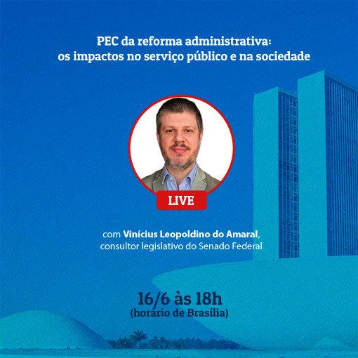 Consultor Legislativo do Senado Federal, Vinícius Leopoldino do Amaral.  - ANAJUSTRA Federal