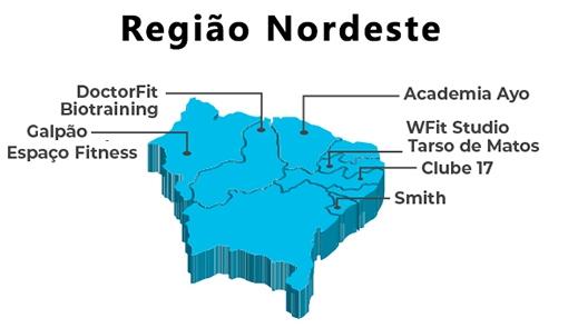 Academias para a Região Nordeste. - ANAJUSTRA Federal