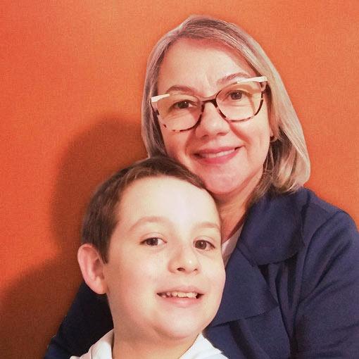 Marli e seu filho Pedro - Arquivo pessoal