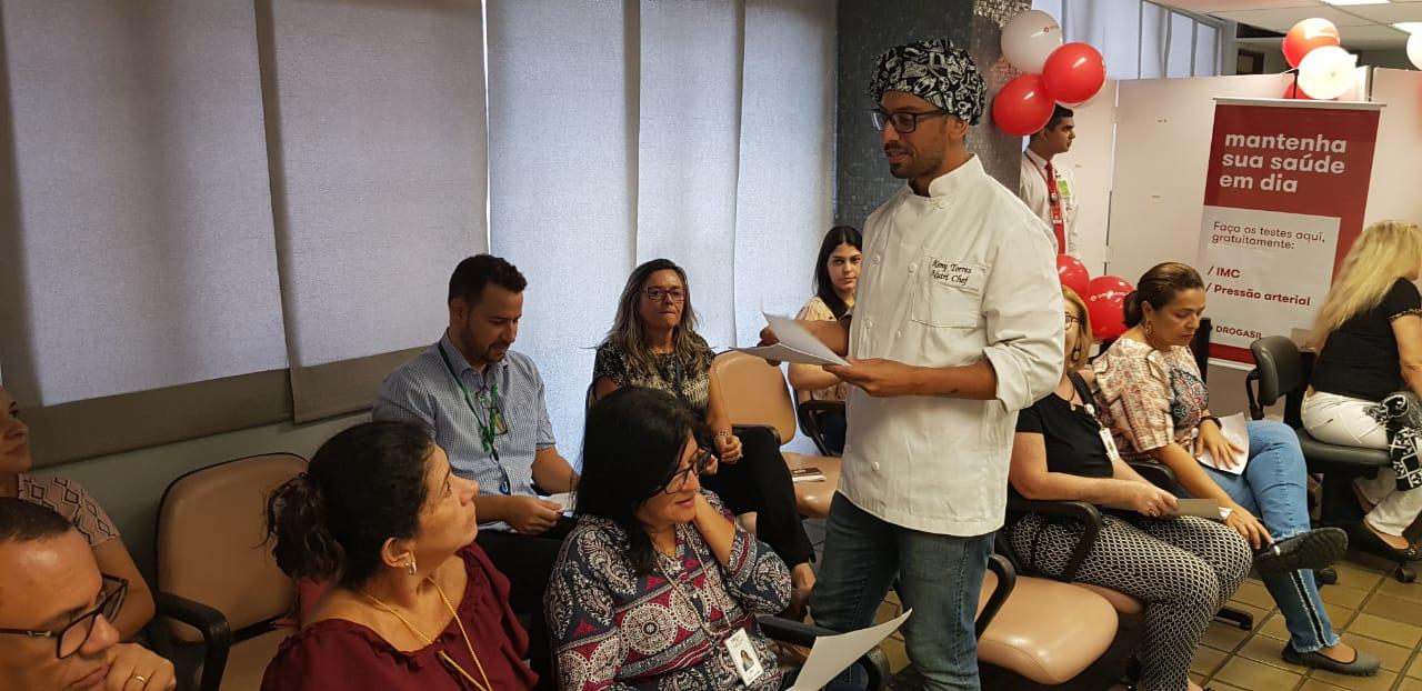 Servidores do TRT13 participaram da abertura de Oficinas de alimentação saudável durante ação do Bem Viver, em João Pessoa.